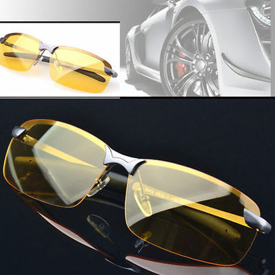 Night Driving Anti Glare Vision Glasses Yellow Driver Sunglasses Mens Time