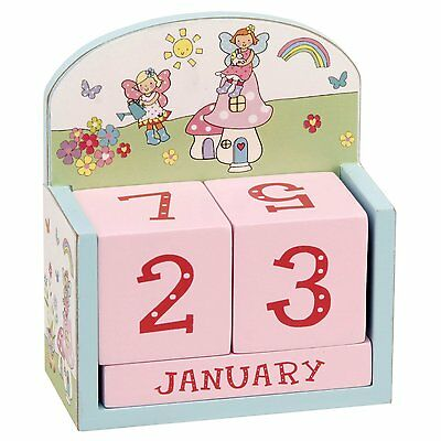 Wooden Fairy Garden Girls Bedroom Perpetual Calendar