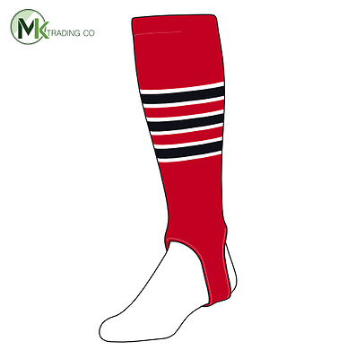 "TCK® Medium, 200D, 4"" - Scarlet Red–White–Black - MLB® Baseball Stirrups"