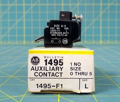 NOS Allen-Bradley Bulletin 1495-F1 Auxiliary Contact - New in Box