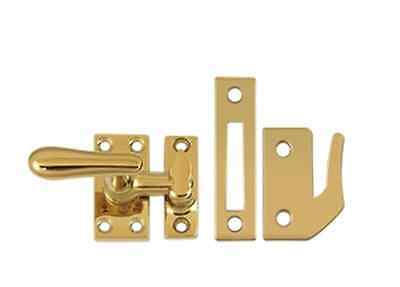 Casement Window Fastener Solid Brass Large 66 in 10 Finishes By FPL Door Locks