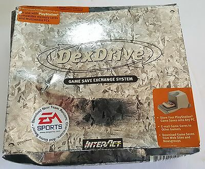 NEW W/Crushed Box DexDrive Playstation 1 to PC Memory Card Game Save Transfer