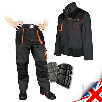 Work Trousers Cargo Combat Style Multi Pockets Heavy Duty Pants Knee Pad Pocket