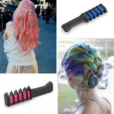 Easy Wash Out Colors Non-Toxic Hair Chalk Dye Soft Temporary Hair Comb Tools Q