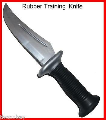 Rubber Training Knife Combat Hand to Hand Fighting Tactical Flexible Tool