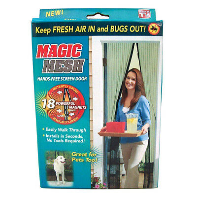 Magic Mesh Hands-Free Screen Door with magnets AS SEEN ON TV with Original Box