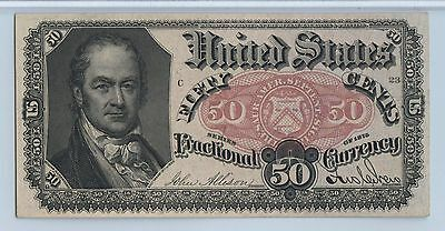 50 Cent Fifth Issue Fractional Currency PMG 64 EPQ, Blue Right End