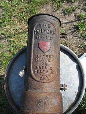 Antique Cast Iron Holyoke Gas Water Heater