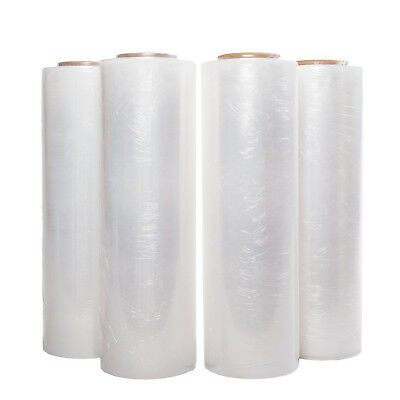 "4 Rolls 18"" x 1500 FT 80 Gauge Pallet Wrap Stretch Film Shrink Hand Wrap 1500'"