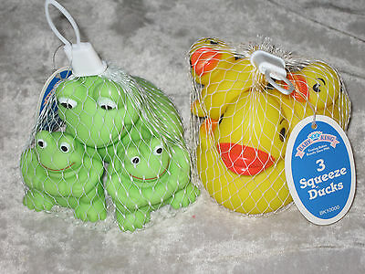 Baby Bathtub Squeeze Toys Frogs Ducks Fish Colorful Play Water NEW!