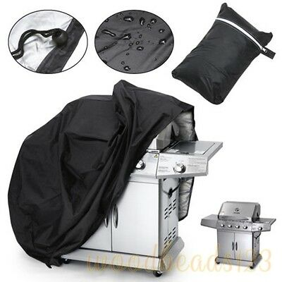 5 SIZES Black BBQ Grill Cover Gas Barbecue Heavy Duty Waterproof Outdoor Weber