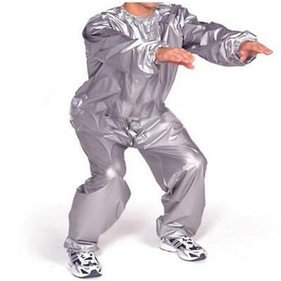 Unisex Gym Workout Exercise Fitness Sauna Sweat Suit Slimmer Weight Loss L-5XL Q