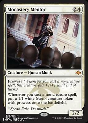 Monastery Mentor Near Mint Normal English Magic the Gathering MTG Fate Reforged