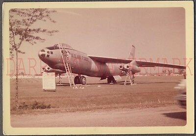Vintage Color Photo US Air Force Military Jet Airplane 677858