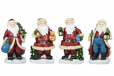 Lovely Traditional Father Christmas Santa Claus Figure 4 Designs Xmas Decoration