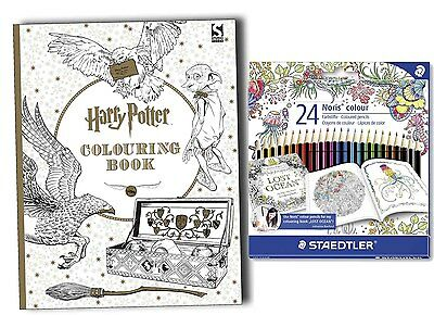 Harry Potter Colouring Book with 24 STAEDTLER Colouring Pencils Set