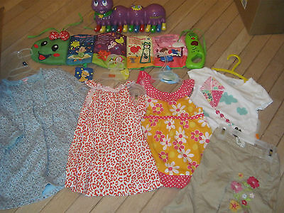 Lot Of Girls Clothes Size 18-24 Mos, Plus Educational Toys