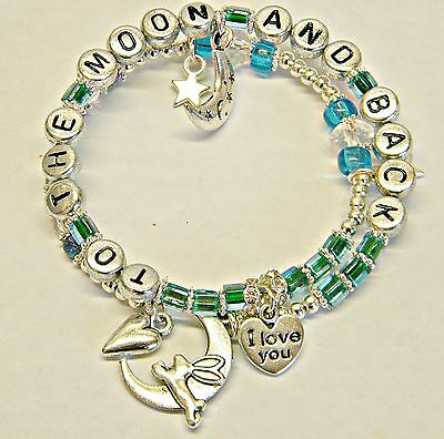Guess How Much I Love You (To The Moon And Back)Baby Breastfeeding Bracelet Gift