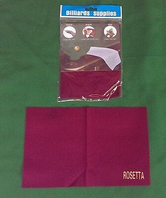 Rosetta Premium Micro Fibre Snooker Pool Cue Towel Ball Cloth Polisher Cleaner