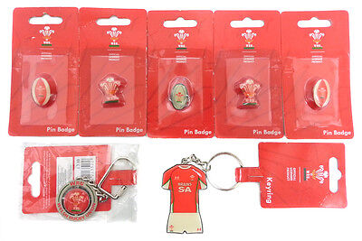 Wales Rugby Union Pin Badge Key Ring Bundle Official WRU Licensed Products - NEW