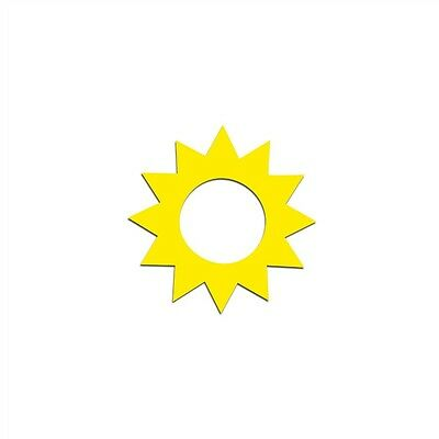 SUNBURST TANNING STICKER  Scrapbooking Crafts 50 CT