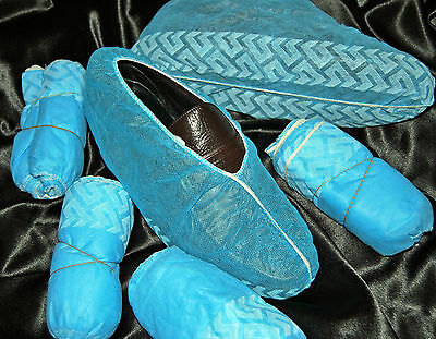 100 Disposable Shoe Covers Non-Skid/ Medical/ Lab / Clean Room / Xl/ To Size 13