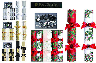 Tom Smith Deluxe Range Christmas Crackers 6 x 14'' - 4 Designs To Choose From