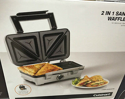 Cuisinart 2 in 1 Sandwich And Waffle Maker non-stick, dishwasher safe Plates