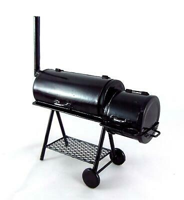 Dolls House Miniature 1:12 Garden Furniture Deluxe BBQ Barbeque Smoker Grill