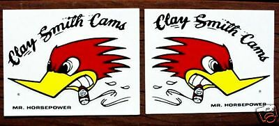 "2 Clay Smith Cams 3"" Decals Hot Rat Rod Muscle Car  MR HORSEPOWER Sticker"