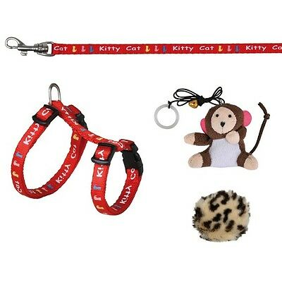 TRIXIE Kitten Harness with Lead and 2 Toys 4190