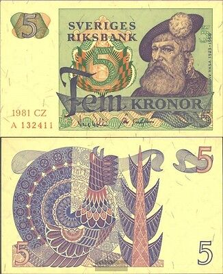 Sweden Pick-number: 51d (1981) used (III) 1981 5 Kronor