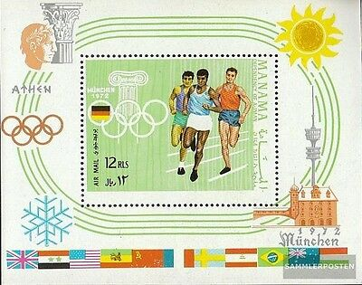 Manama block88a mint never hinged mnh 1969 Venues olympic. Games