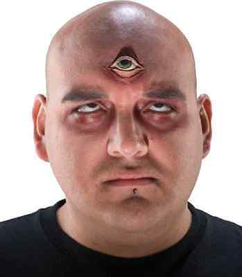 Third Eye Cyclops Monster Fancy Dress Halloween Costume Makeup Latex Prosthetic