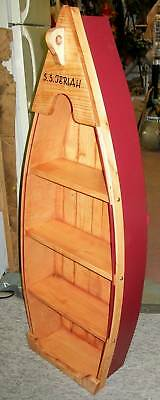 **NEW** Custom 4 Ft Handmade Wood Canoe Nautical Boat Shelf - Choose finishing!