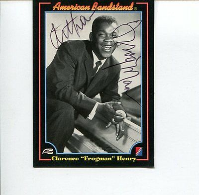 Clarence Frogman Henry Rhythm Blues Singer Pianist Signed Autograph Photo Card