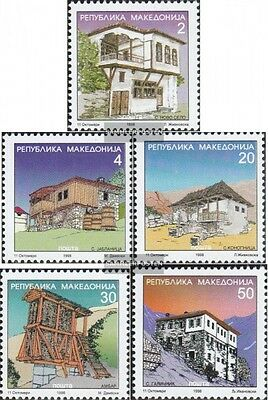 makedonien 116-120 mint never hinged mnh 1998 clear brands: Architecture