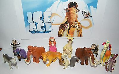 Ice Age Movies Figure Set of 13 with Manny, Ellie, Scrat, Diego, Sid and More!