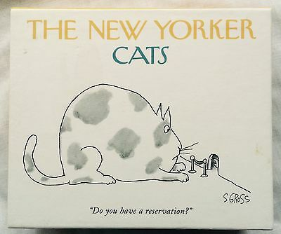 The New Yorker CATS Greeting Cards Complete Boxed Set 20 Cards & Envelolpes 1995