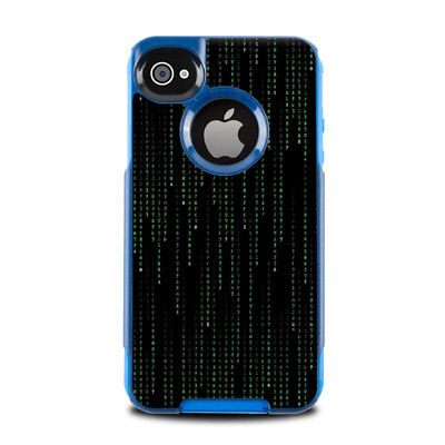 Skin for Otterbox Commuter iPhone 4 - Matrix Style Code - Sticker Decal