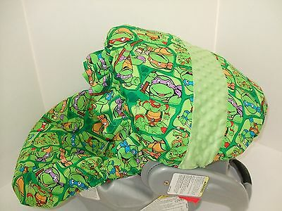 NINJA TURTLE INFANT CAR SEAT COVER Graco Custom Most Brands