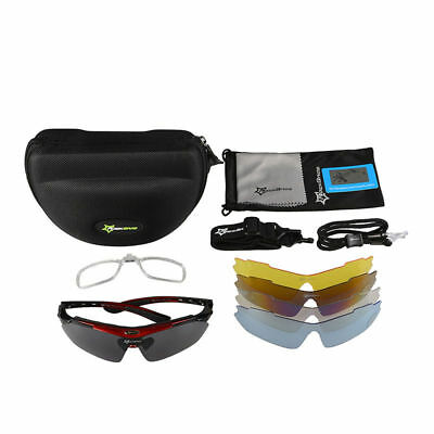ROCKBROS Polarized Cycling Glasses Sports Sunglasses Goggles TR90 22g Green