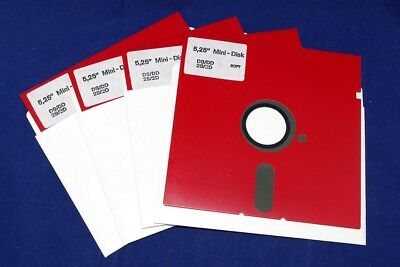 "5"" 5.25"" 5in DSDD Disk Diskette Floppy 360K IBM/Apple II/Atari RARE NEW, 10pcs"