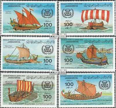 Libya 1115-1120 unmounted mint / never hinged 1983 Meeresorganisation
