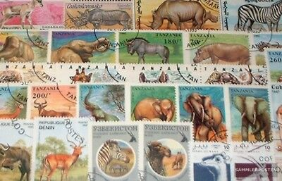 Africa 50 different African Animals Stamps