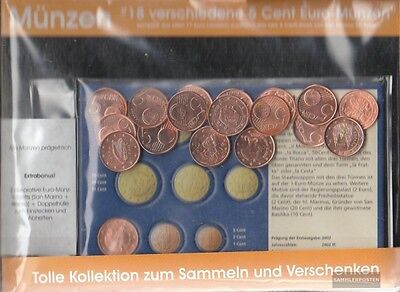 Europe 18 different uncirculated 5 cent Euro-Coins out 18 different Countries