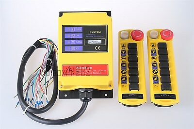 B200S 2 Emitters 1 receiver  Hoist Crane Radio Wireless Remote Control AC 110V