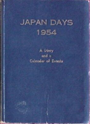 1954 Japan Days Diary & Calendar Of Events