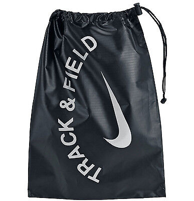 New NIKE Track & Field Spikes Shoe String Bag Carry Tote Black