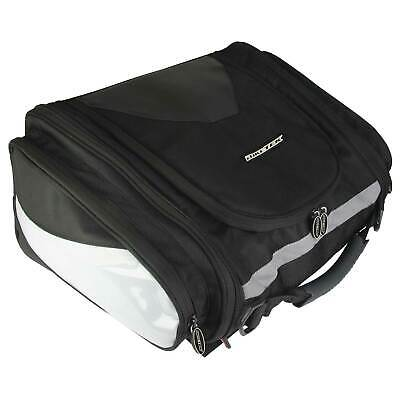 BikeTek Motorcycle Urbano Contoured Design Tail Pack In Black - Touring Luggage